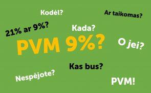 PVM lengvatinis tarifas 9%